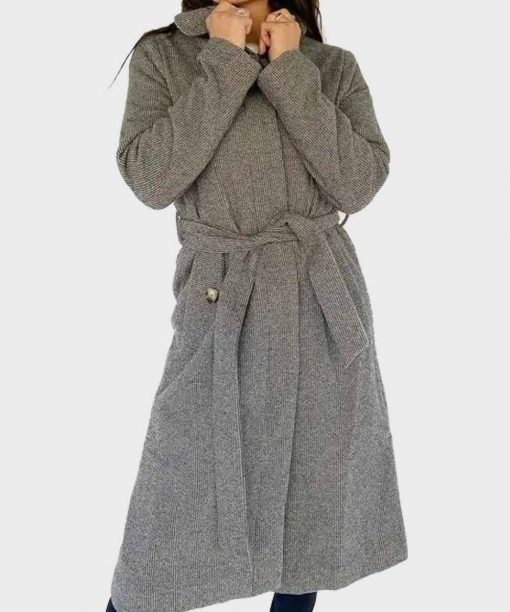 Tia Booth The Bachelor Grey Trench Coat