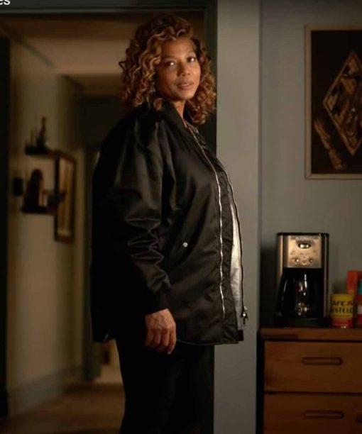 Queen Latifah The Equalizer Black Bomber Jacket
