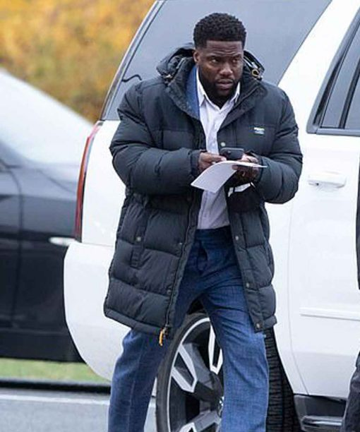 Kevin Hart The Man from Toronto Teddy Nilson Black Oversized Puffer Jacket