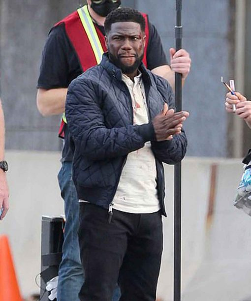 Kevin Hart The Man from Toronto Teddy Nilson Black Quilted Bomber Jacket