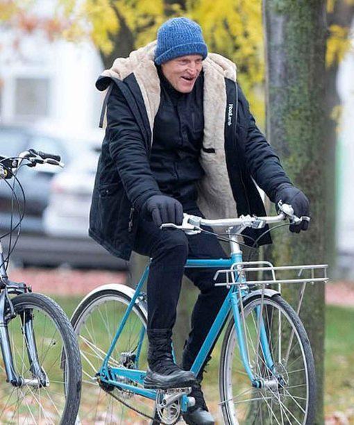 Woody Harrelson The Man from Toronto Wally Black Hooded Jacket
