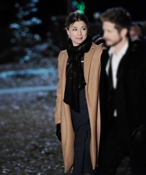 The Resident Emily VanCamp Brown Coat