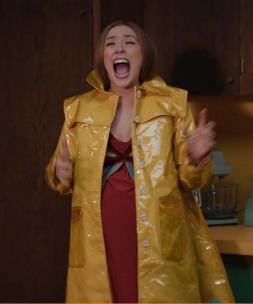 WandaVision Elizabeth Olsen Yellow Coat