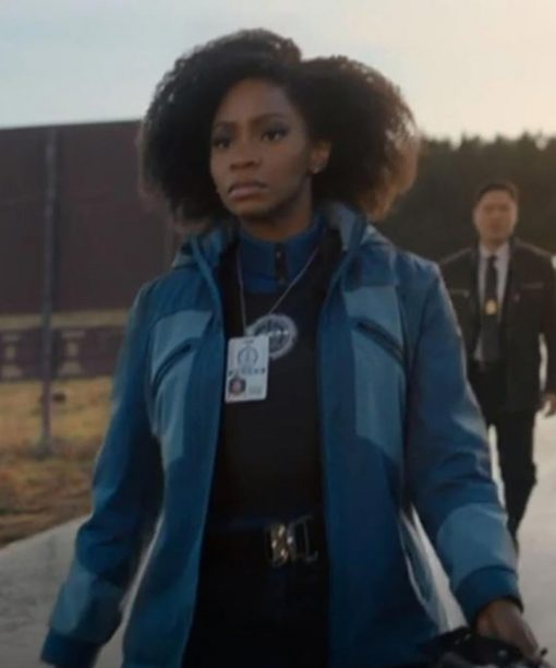 WandaVision Teyonah Parris Blue Jacket with Hood