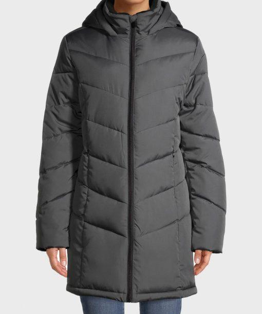 Womens Puffer Grey Down Coat