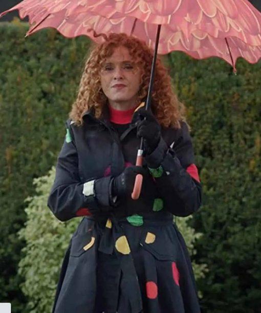 Zoey's Extraordinary Playlist Bernadette Peters Polka Dot Coat
