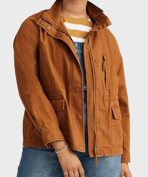 Jennifer Love Hewitt 9-1-1 S04 Brown Jacket