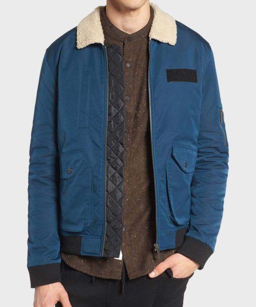 Arrow Rene Ramirez Blue Fur Collar Jacket