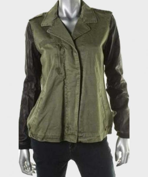 Simona Brown Behind Her Eyes Green Cotton Jacket