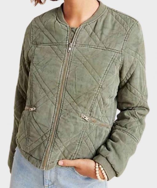 Behind Her Eyes Simona Brown Quilted Jacket