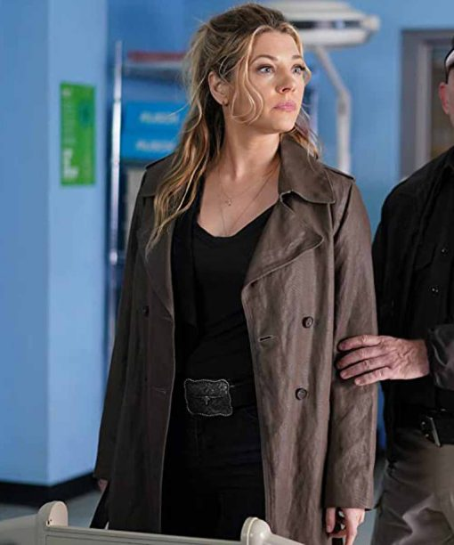 Katheryn Winnick Big Sky Brown Trench Coat