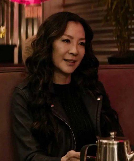 Michelle Yeoh Boss Level Black Leather Jacket