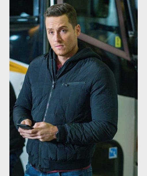 Jesse Lee Soffer Chicago P.D. Black Bomber Jacket