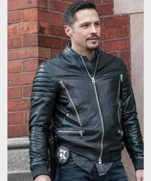 Chicago P.D. Nick Wechsler Biker Leather Jacket
