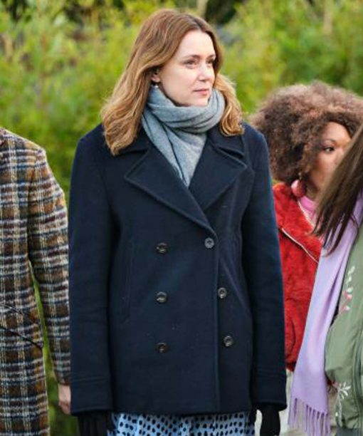 Finding Alice Keeley Hawes Black Coat
