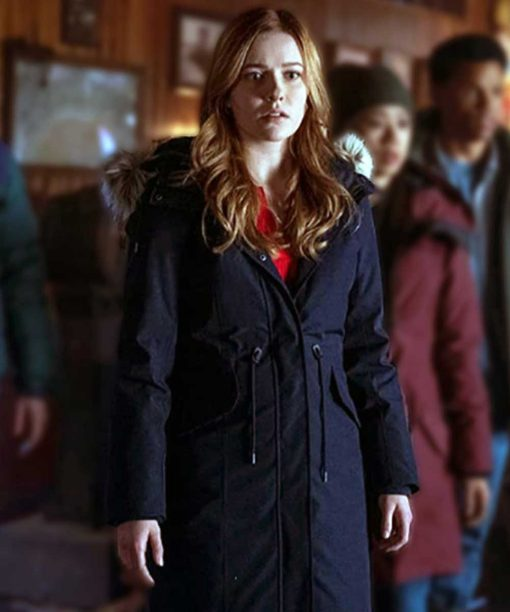 Nancy Drew Kennedy McMann Blue Parka Coat