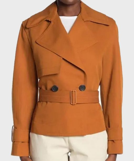 Jessica Alba L.A.'s Finest S02 Cropped Belted Jacket