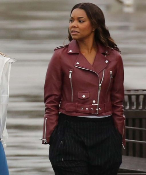 Gabrielle Union L.A.'s Finest Motorcycle Leather Jacket