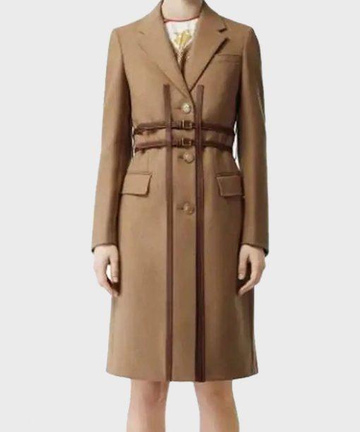 Anna Kendrick Love Life Brown Coat