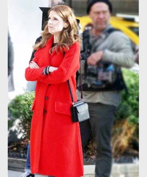 Anna Kendrick Love Life Red Trench Coat