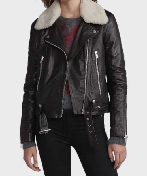Love Life Zoe Chao Black Leather Jacket