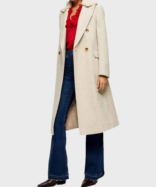 Love Life Zoe Chao Coat with Shearling Collar