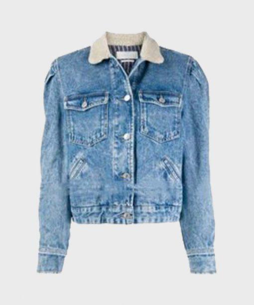 Zoe Chao Love Life Blue Denim Jacket