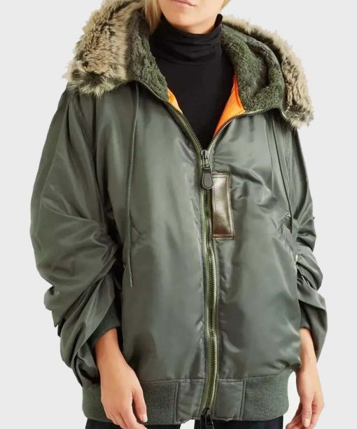 Love Life Zoe Chao Green Parka Jacket