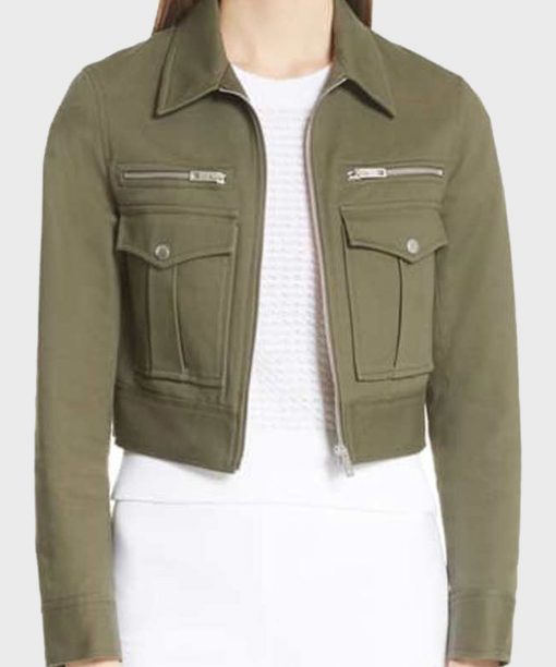 Levy Tran MacGyver S05 Cropped Suede Jacket