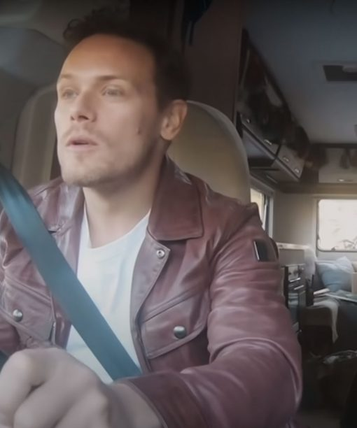 Men in Kilts: A Roadtrip with Sam and Graham Maroon Leather Jacket