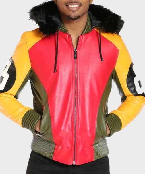 Men's 8 Ball Jacket with Light Fur Hood
