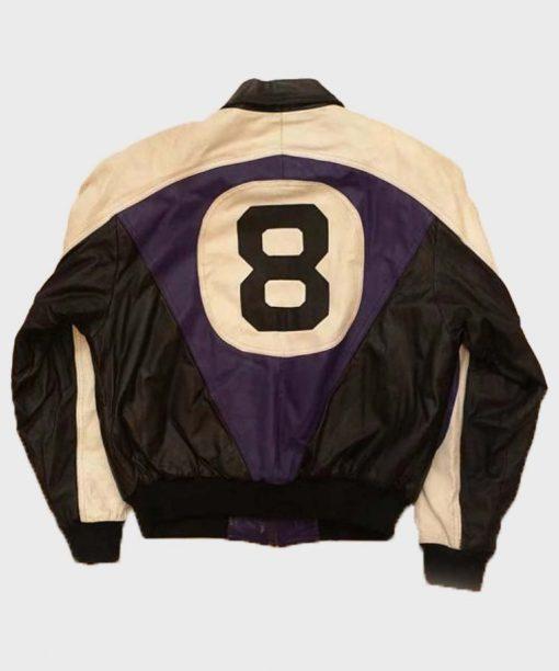 Michael Hoban Purple and Black 8 ball Leather Jacket