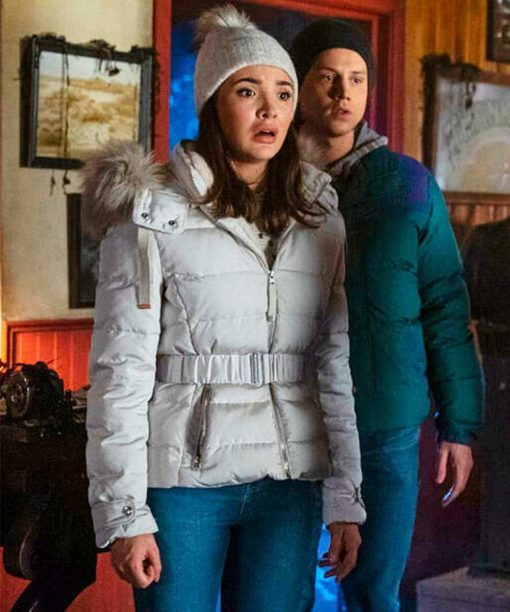 Maddison Jaizani Nancy Drew White Parka Jacket