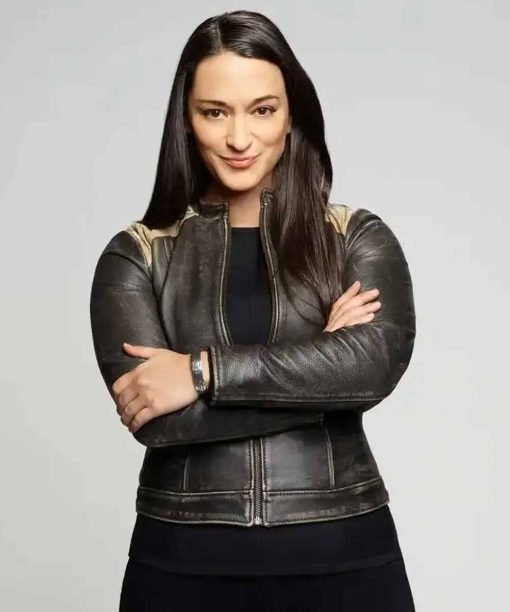 Sara Tomko Resident Alien Black Leather Jacket