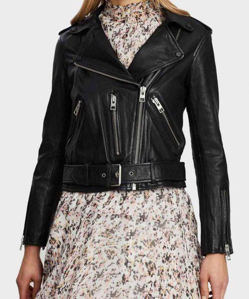 Lili Reinhart Riverdale S05 Black Cropped Jacket