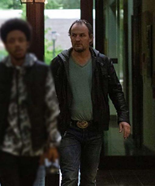 Jason Clarke Silk Road Black Leather Jacket