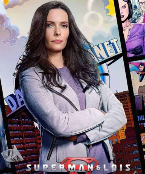 Elizabeth Tulloch Superman and Lois Suede Leather Jacket