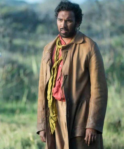 Himesh Patel The Luminaries 2021 Brown Trench Coat