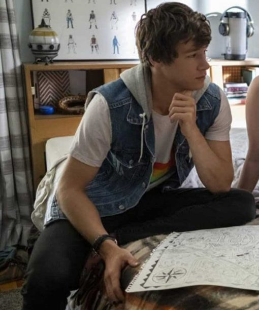 The Map of Tiny Perfect Things Kyle Allen Denim Vest