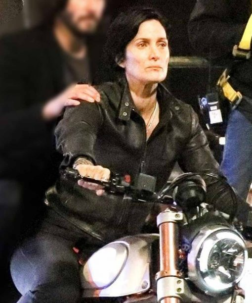 Carrie-Anne Moss The Matrix 4 Leather Jacket