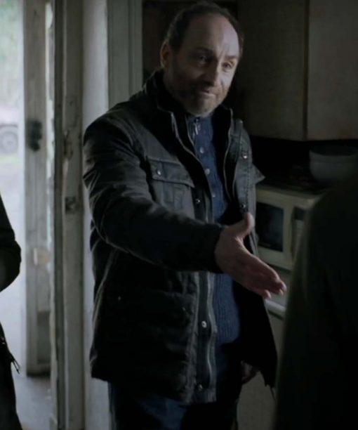 The Winter Lake (2021) Michael McElhatton Black Leather Jacket
