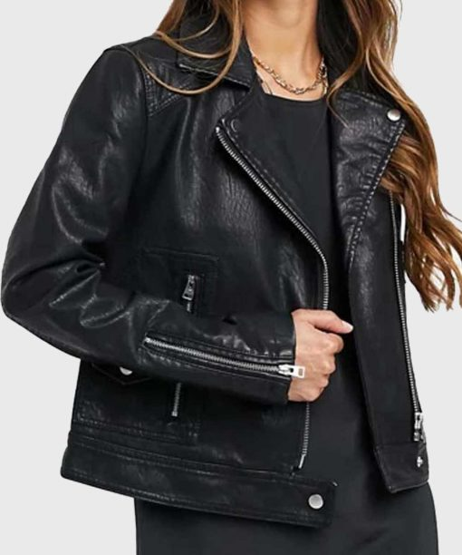 Vanessa Morgan Riverdale S05 Black Leather Jacket