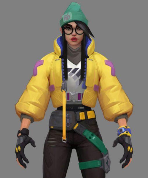Killjoy Valorant Yellow Leather Jacket