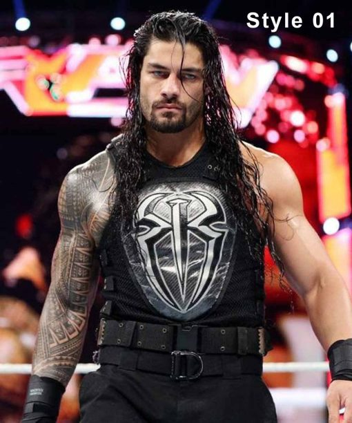 WWE Roman Reigns White and Black Vest