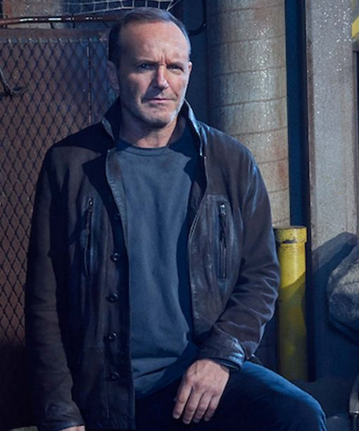Clark Gregg Agents Of Shield Suede Leather Jacket