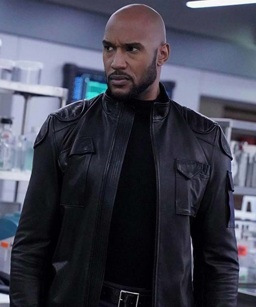Henry Simmons Agents of Shield Black Leather Jacket
