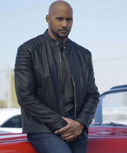 Henry Simmons Agents of Shield Leather Jacket
