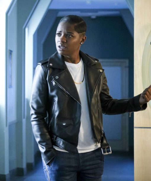 Tamia Cooper All American Motorcycle Leather Jacket