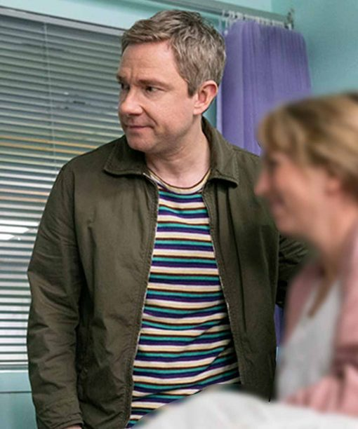 Martin Freeman Breeders Green Jacket