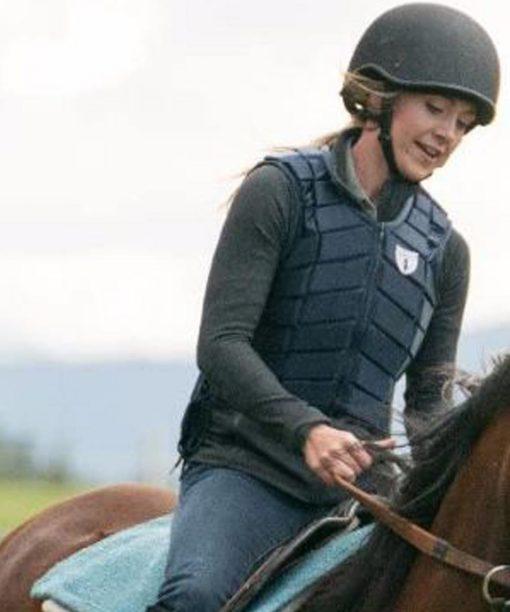 Amber Marshall Heartland Black Leather Vest